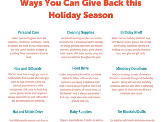 Opportunities for Holiday Giving
