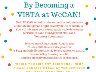 VISTA Opportunity at WeCAN