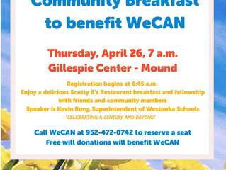 Community Breakfast is April 26