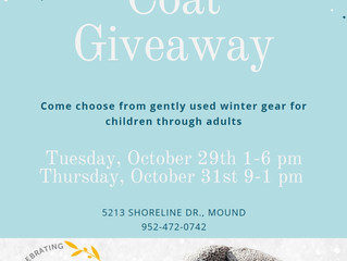 Winter Coat Distribution is Oct. 29 and Oct. 31