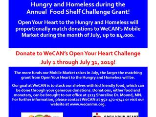 WeCAN Participates in Food Shelf Challenge