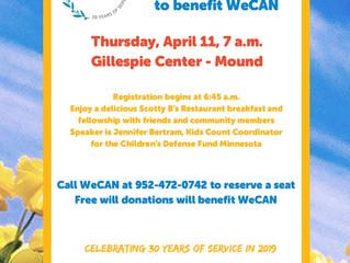 WeCAN Community Breakfast is April 11