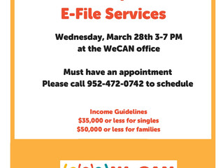 Free Tax Clinic at WeCAN on March 28