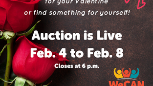 Valentine's Day Virtual Auction closes Feb. 8