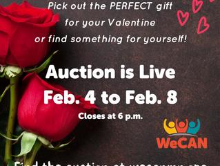 Valentine's Day Virtual Auction closes Feb. 8