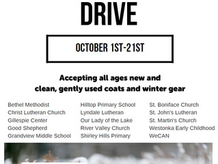 WeCAN Coat Drive Begins October 1