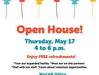 WeCAN Open House is May 17