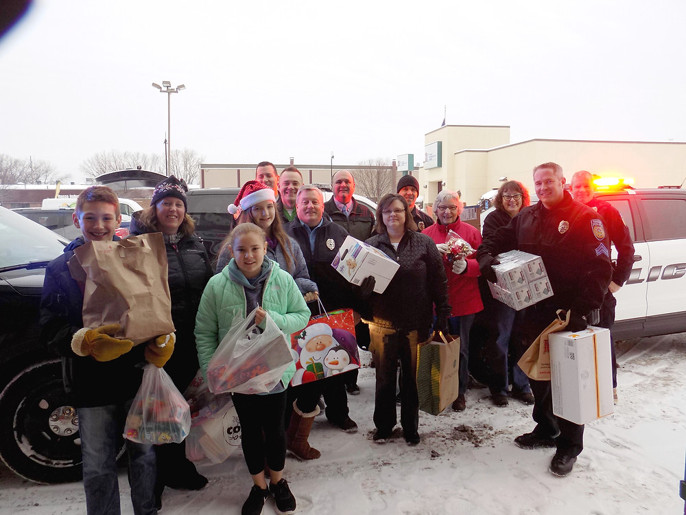 Grandview students delivered toys and personal products with the help of the Orono Police Department.