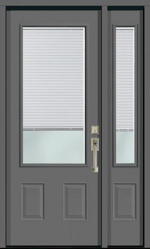 Internal mini blinds