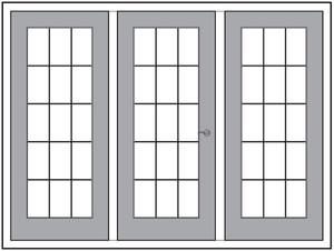 Three panel system