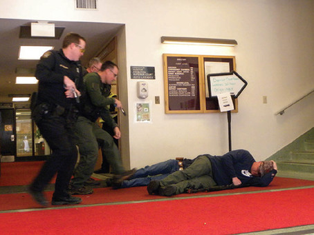 'Active Shooter' Drills Occur in Courthouse