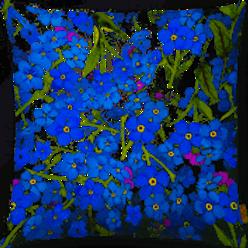 Outdoor Kissen textil—-Werk  50 x 50 cm  Vergissmeinicht