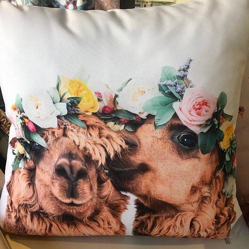 Kopie von Outdoor Kissen textil—-Werk  50 x 50 cm  Bunny