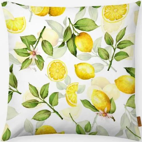 Outdoor Kissen textil—-Werk  50 x  50 cm  Zitronen