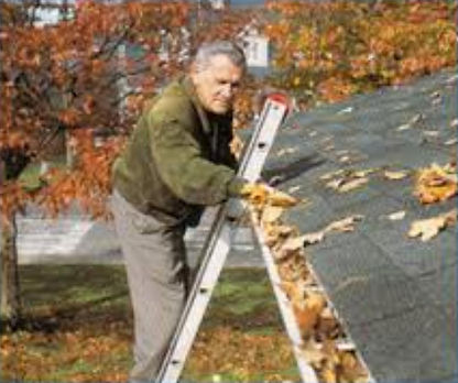 Gutter Rudder eliminates risk on ladders cleaning gutters!