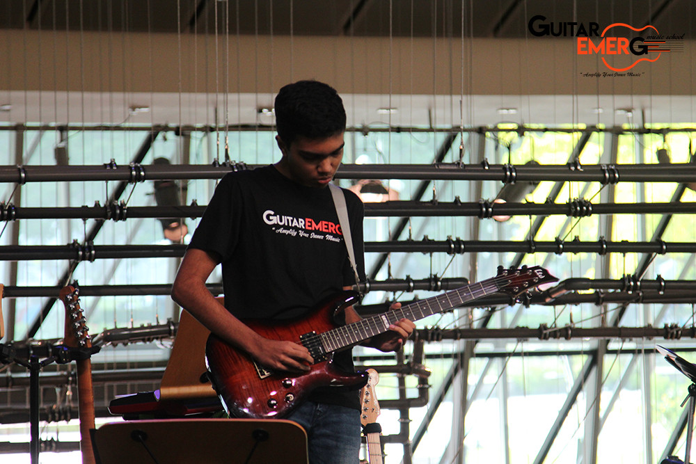 Advay on Electric Guitar