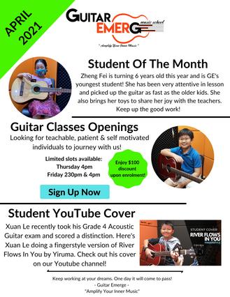 Guitar Emerge Newsletter April 2021