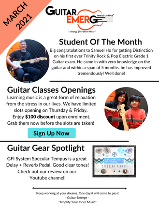 Guitar Emerge Newsletter March 2021
