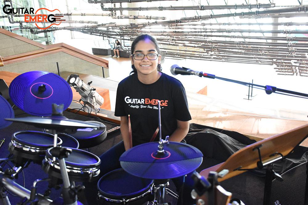 Anusha on Drums