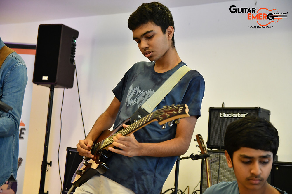 Advay electric guitarist