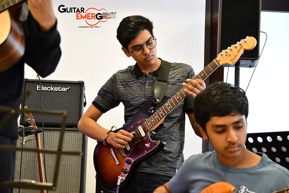 Arnav electric guitarist