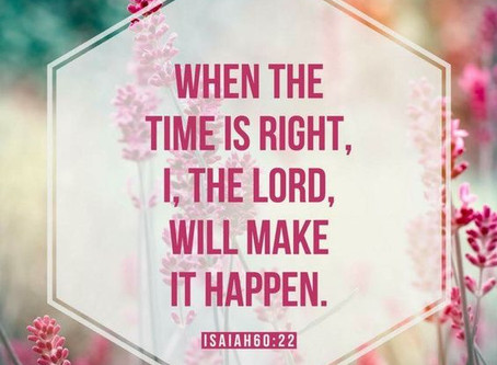 You have an appointment with your promise!