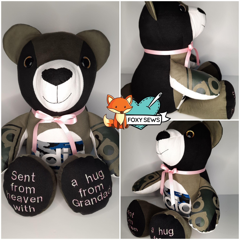 Foxy sews Memory Bear - Adult 3