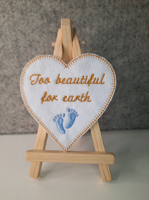 Too beautiful for earth Memory Patch