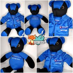 Foxy Sews Memory Bear - College Uniform.