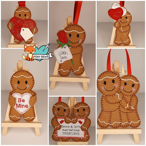 Love/Valentine Ginger Embroidered Gift