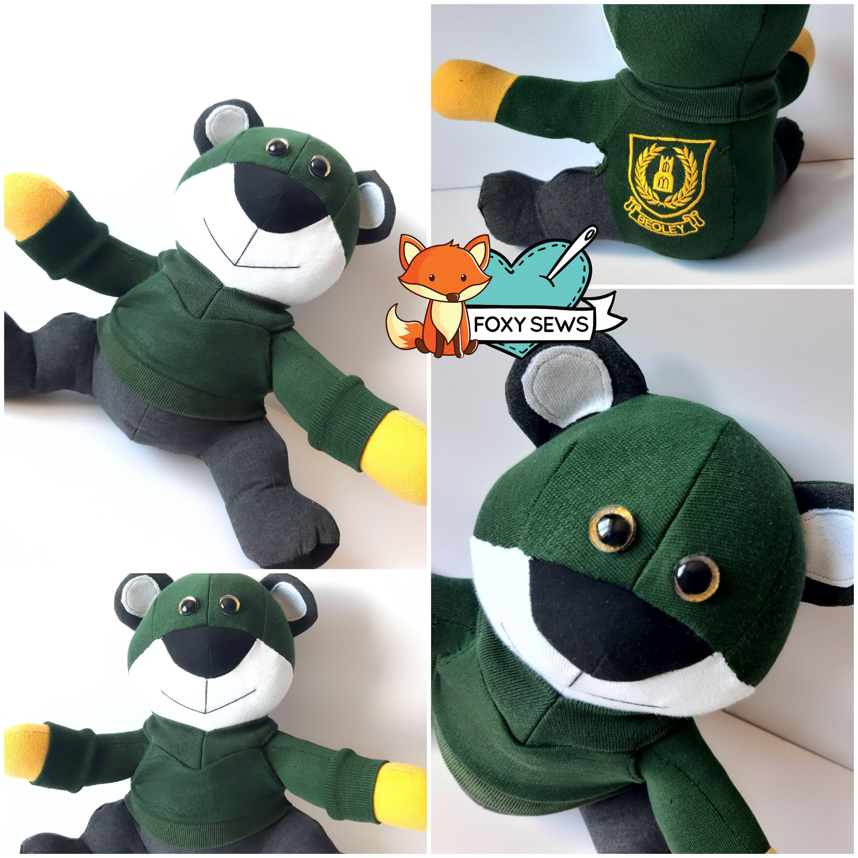 Foxy Sews Memory Bear - School uniform B