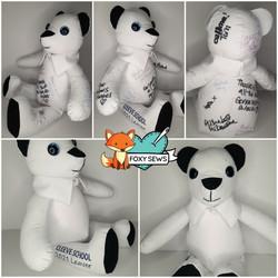 School uniform signature bear - foxy sew