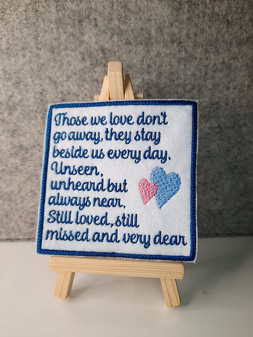 Those we love, Memory Patch