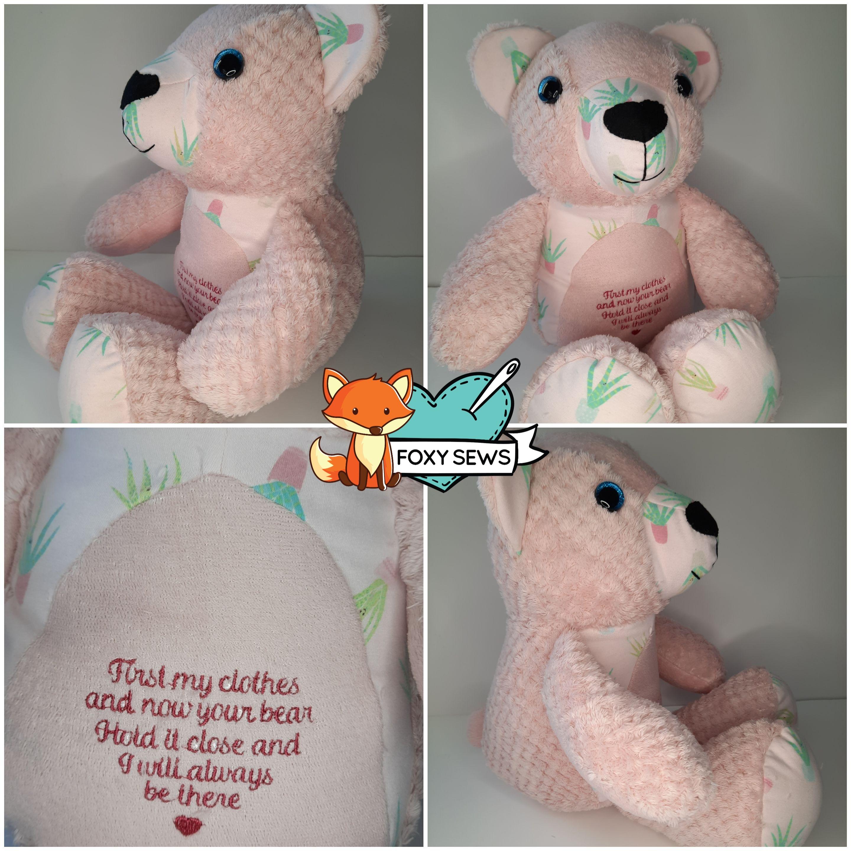 Foxy Sews Memory Bear - Keepsake Bear