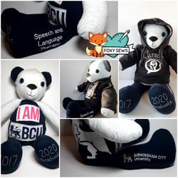 Foxy Sews Memory Bear - University Bear.