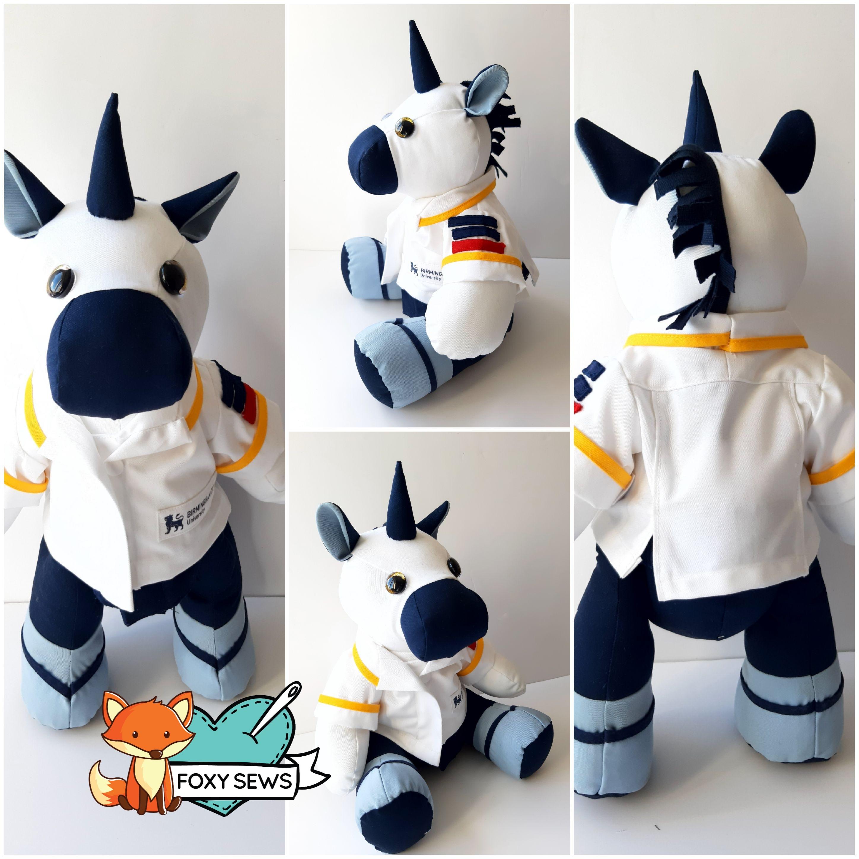 Foxy Sews Memory Bear - Unicorn Nurse