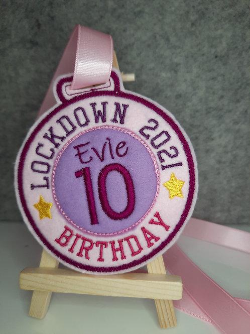 Lockdown Birthday/Anniversary Medal/Badge