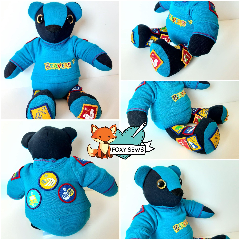 Foxy Sews Memory Bear - Beavers Bear