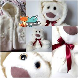Foxy Sews Memory Bear - Fluffy Big Nose.