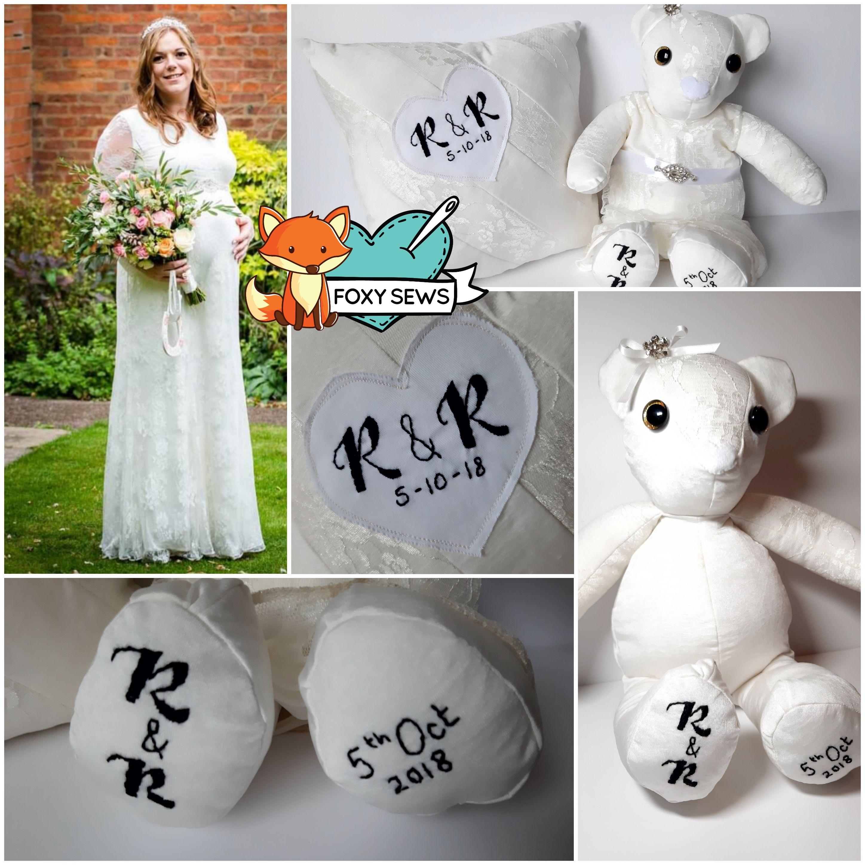 Foxy Sews Memory Bear - Wedding Dress