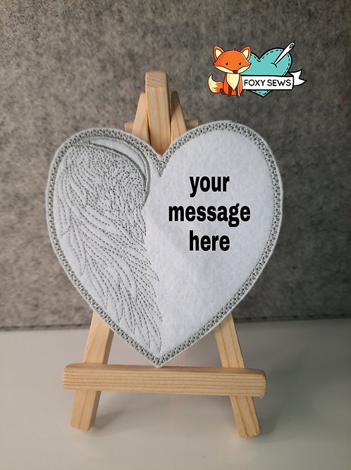 Heart with Wings Memory Patch