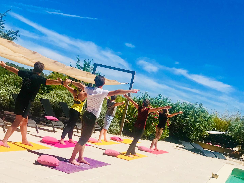 yoga group event