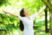 Canva - Young Woman Meditating with Open