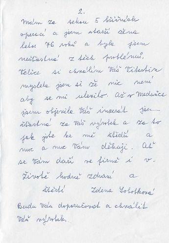 Sobotková str.2 Sobotková Zdeňka JIHLAVA