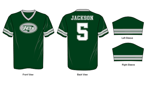 Example of green flag football jersey