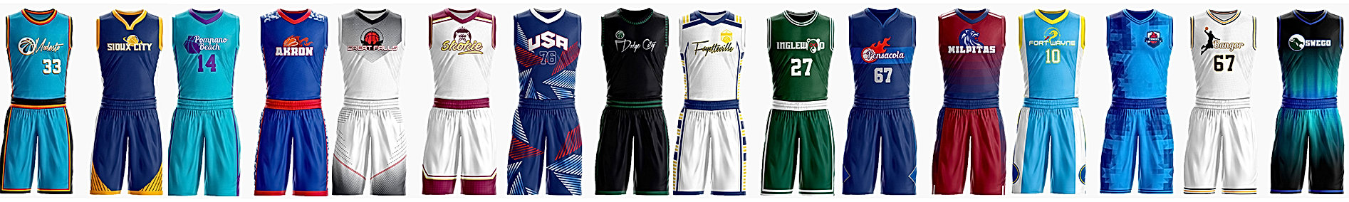 Exampels of Custom Basketball Jersey and Uniforms