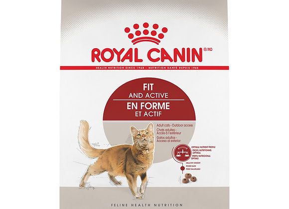 Royal Canin Fit & Active Dry Adult Cat Food, 7 lb