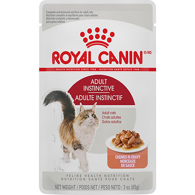 Royal Canin Adult Instinctive Chunks in Gravy Pouch, 3 oz