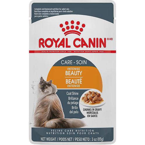 Royal Canin Intense Beauty Chunks in Gravy Pouch, 3 oz