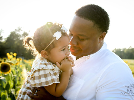 Family Session - Sunflowers and Sunshine
